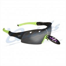 Rayzor Sports Sunglasses Ventz Model R1220BKSM-LI Black frames smoke lens : RC22bkgr