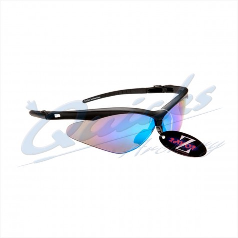 Rayzor Sports Sunglasses R137BKBL Black frames with blue windshield lens : RC37blSunglassesRC37BL