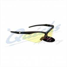 RC37cl Rayzor Sports Sunglasses R137BKYE  Black frames with clear windshield lens