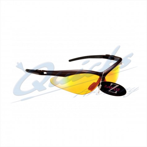 Rayzor Sports Sunglasses R137BROR Dark Red frames with orange windshield lens : RC37orSunglassesRC37OR