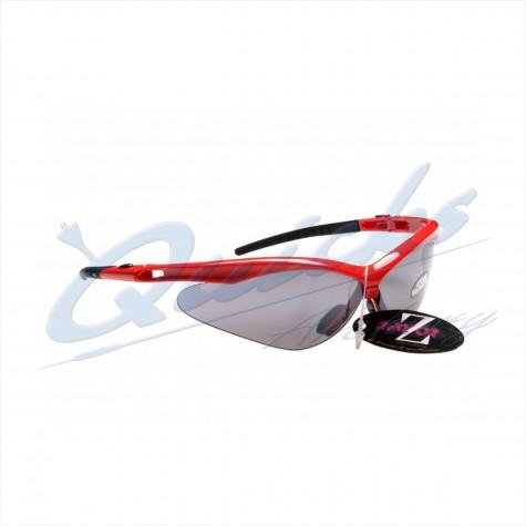 Rayzor Sports Sunglasses R137RESM Red frames with smoke windshield lens : RC37rsmSunglassesRC37RSM