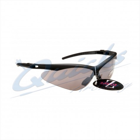 Rayzor Sports Sunglasses R137BKSM Black frames with smoke windshield lens : RC37smSunglassesRC37SM