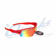 RC22rere Rayzor Sports Sunglasses Ventz Model  RI220RERE Red frames red lens
