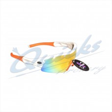 Rayzor Sports Sunglasses Ventz Model RI220WTOR White frames orange lens : RC22wtor
