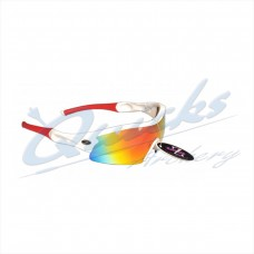 Rayzor Sports Sunglasses Ventz Model RI220WTRE White frames red lens : RC22wtre