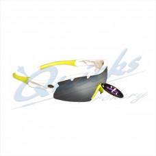 RC22wtsm Rayzor Sports Sunglasses Ventz Model  RI220WTSM  White frames smoke lens