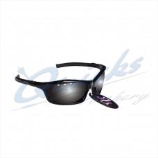 RC05bk Rayzor Sports Sunglasses Finz Model  RI401BKSM  Black frames smoke lens
