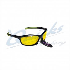 RC05ye Rayzor Sports Sunglasses Finz Model  RI401BKYE  Black frames yellow  lens