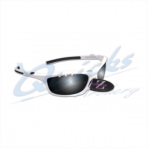 Rayzor Sports Sunglasses Finz Model RI401WTSM White frames smoke lens : RC05whSunglassesRC05wh