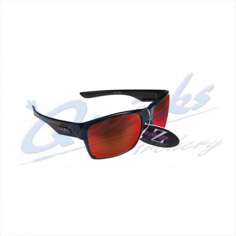 Rayzor Sports Sunglasses Wayvz Model RI424BKRE Black frames red lens : RC10bkSunglassesRC10bk