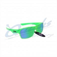 RC10gr Rayzor Sports Sunglasses Wayvz Model  RI424LIGR  Neon Green frames green  lens