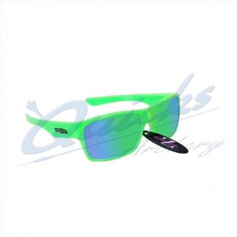 Rayzor Sports Sunglasses Wayvz Model RI424LIGR Neon Green frames green lens : RC10grSunglassesRC10gr