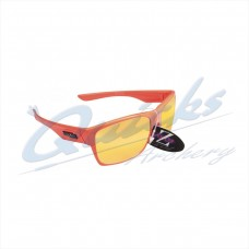 Rayzor Sports Sunglasses Wayvz Model RI424OROR Neon Orange frames amber lens : RC10or