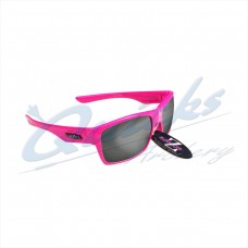 Rayzor Sports Sunglasses Wayvz Model RI424PISM Neon Pink frames smoke lens : RC10pi