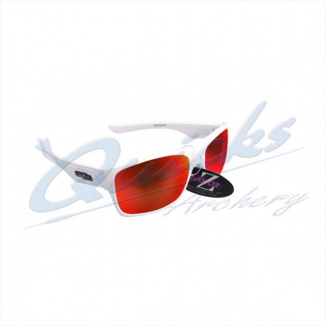 Rayzor Sports Sunglasses Wayvz Model RI424WTRE White frames red lens : RC10whSunglassesRC10wh