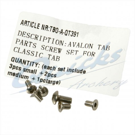 Avalon Classic Finger Tab - Spare Screw Set : SORRY OUT OF STOCK : SH04Finger TabsSH04