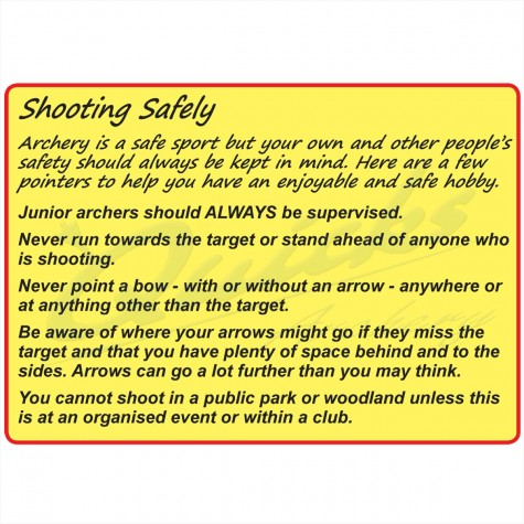 Shooting Safely: This is for information only, not a product for purchase.Archery Bow SetsSafety