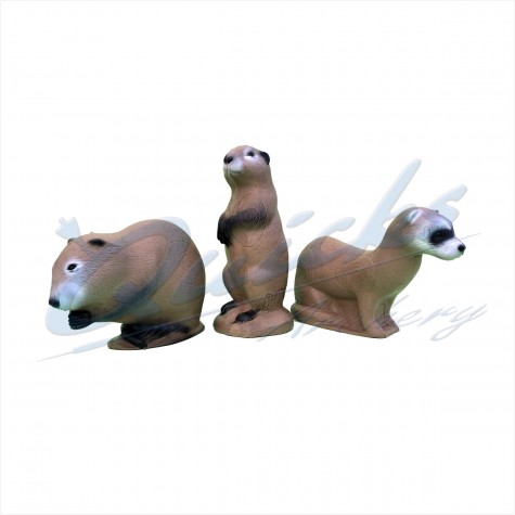 SRT 3D Set : Mink, Muskrat & Prairie Dog : SORRY OUT OF STOCK : ST19Target BossesST19
