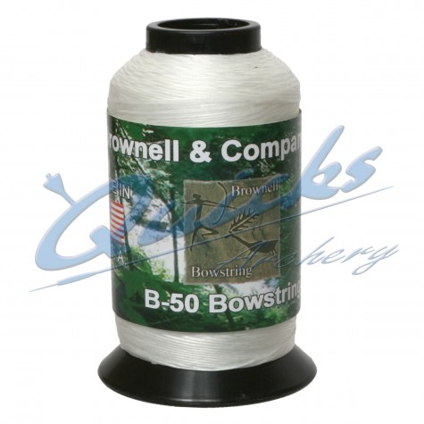 Brownells B50 White Waxed Dacron 1lbs Spool : WD05String MaterialWD05