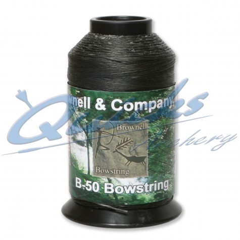 Brownells B50 Black Waxed Dacron 1/4lbs Spool : WD09String MaterialWD09