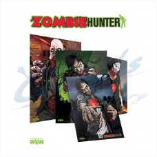 WT10 Win & Win Zombie Hunter Target Faces  Pack of 8 assorted