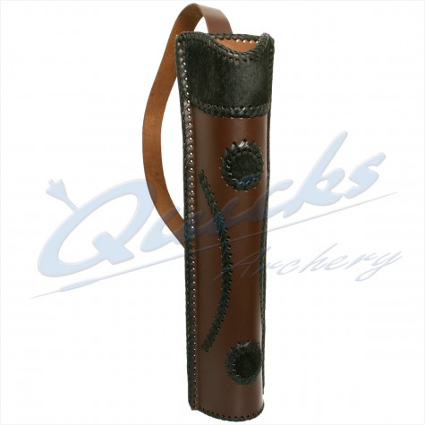 Shooting Target Stands >> Longshot Traditional Leather Back Quiver : Quicks Archery