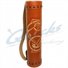 XQ12 Longshot Traditional Large Leather Back Quiver