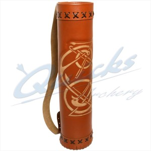 Longshot Traditional Large Leather Back Quiver : XQ12