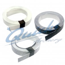 Spinwing Anchor Tape in White, Black and Silver Sparkle (per roll) : ZF39