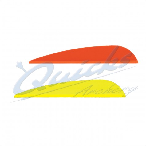 Quicks Neos Spare AAE Plastifletch Fletchings EP23 (per doz) : ZF50Plastic Vanes-ZF50 2.25