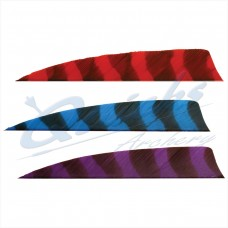 ZF55 Trueflight Barred Feathers Shield 4 Inch (per doz)