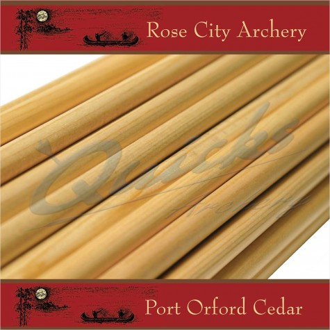 Rose City Premium P.O.C Wood Shafts : 32inch long (each) : ZS31 5/16Wood Arrow ShaftsZS31 5