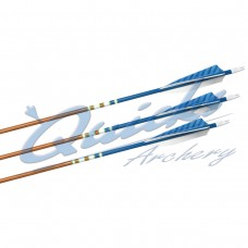 ZS35 POC Elite Fletched  Arrows with Steel Points (set of 12)