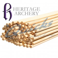 ZS40_1/4 Pine Wood Shafts (per 12) : SORRY OUT OF STOCK